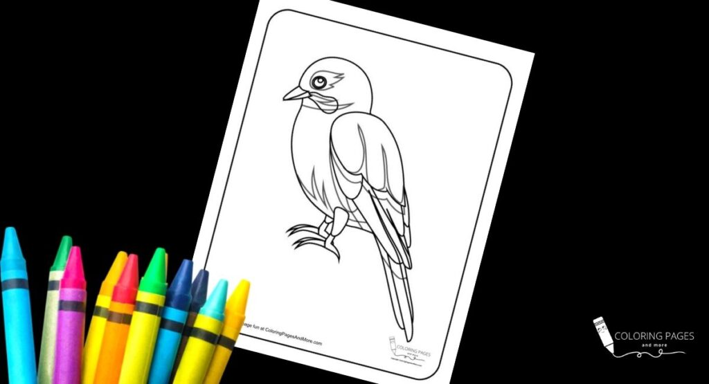 Realistic Bird Coloring Page