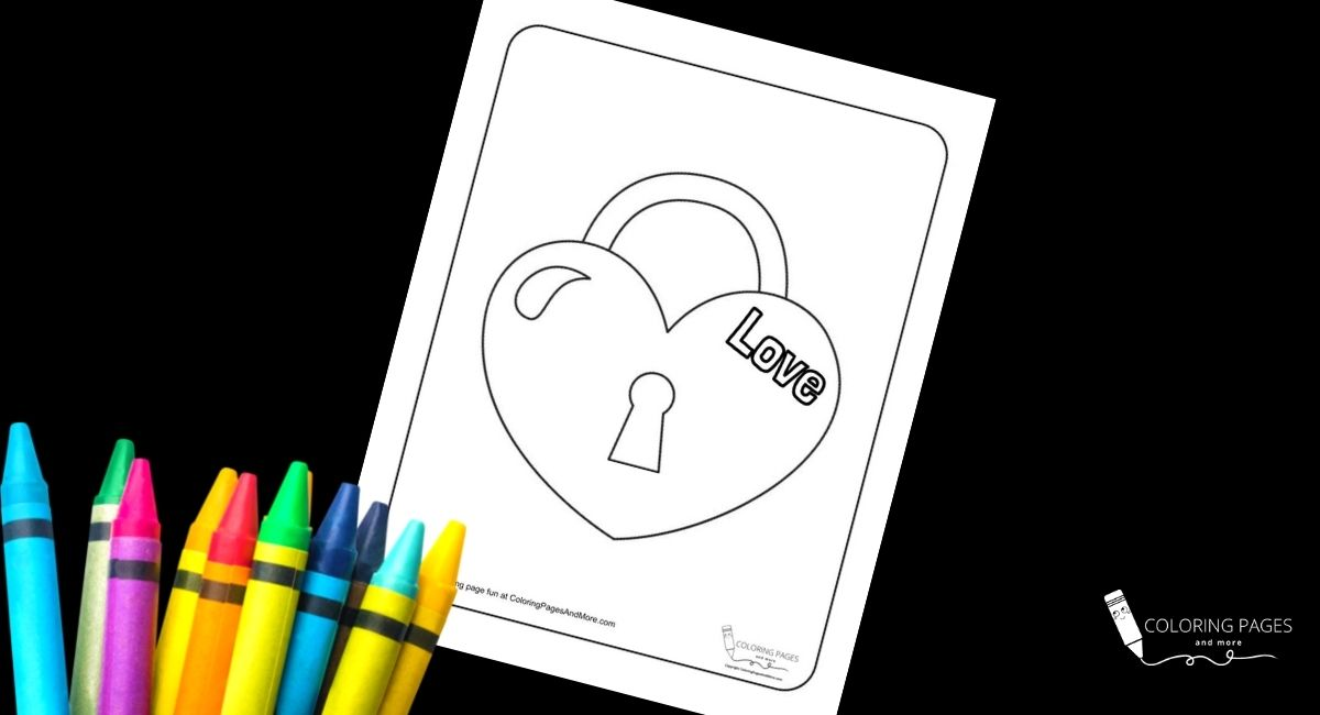 Heart Lock Coloring Page