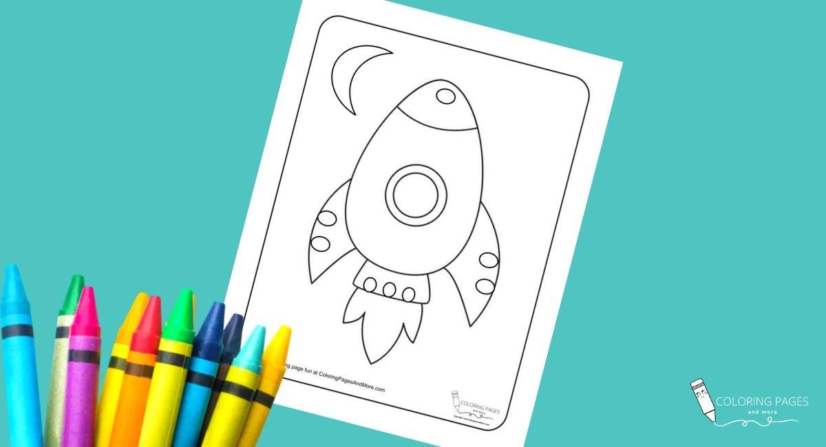 Rocket Ship Coloring Page