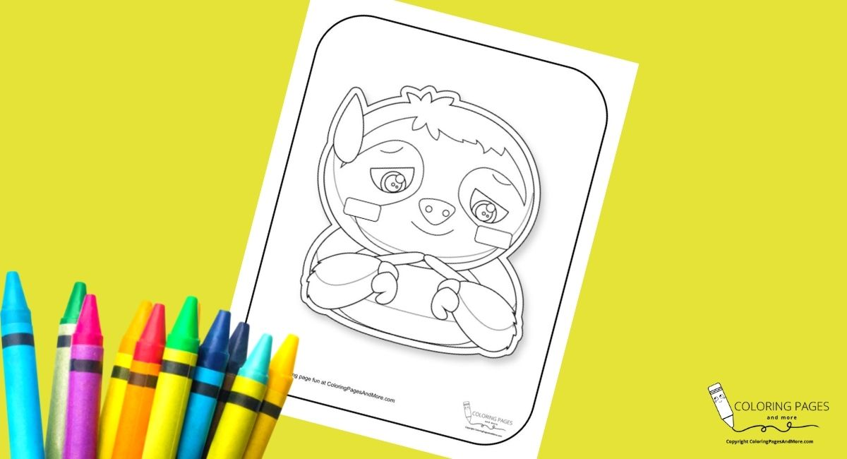Thinking Sloth Coloring Page