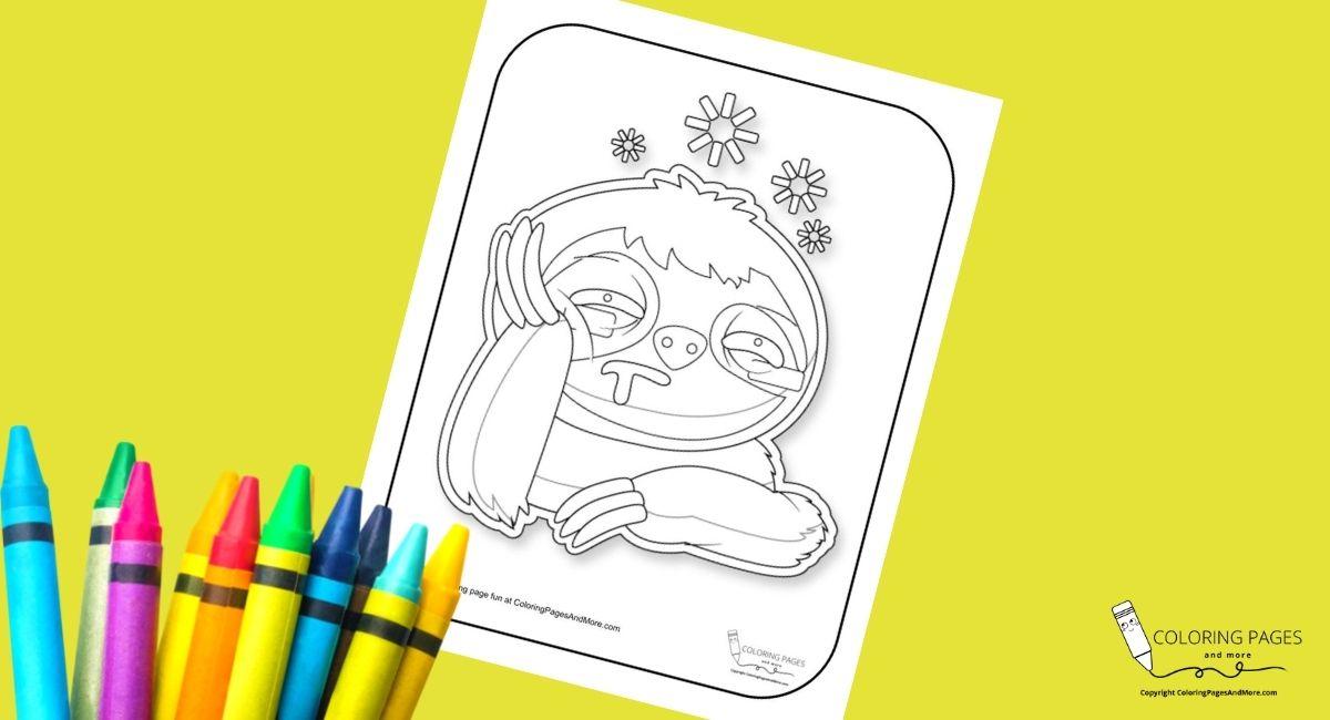 Sad Sloth Coloring Page