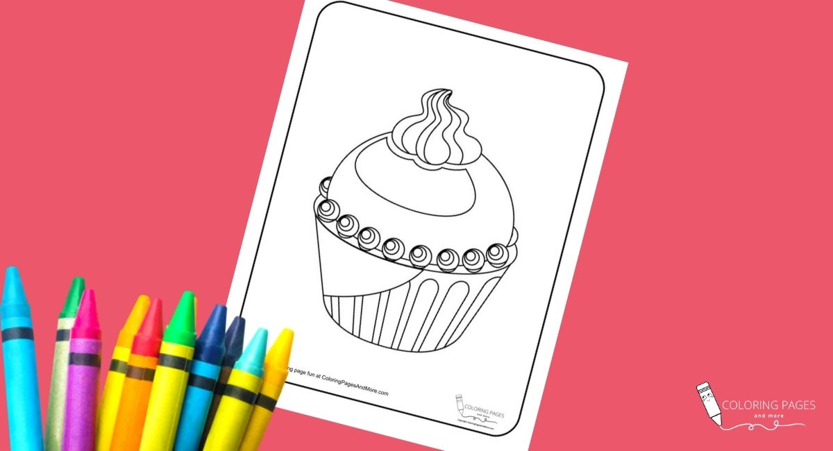 Fire and Ice Cupcake Coloring Page