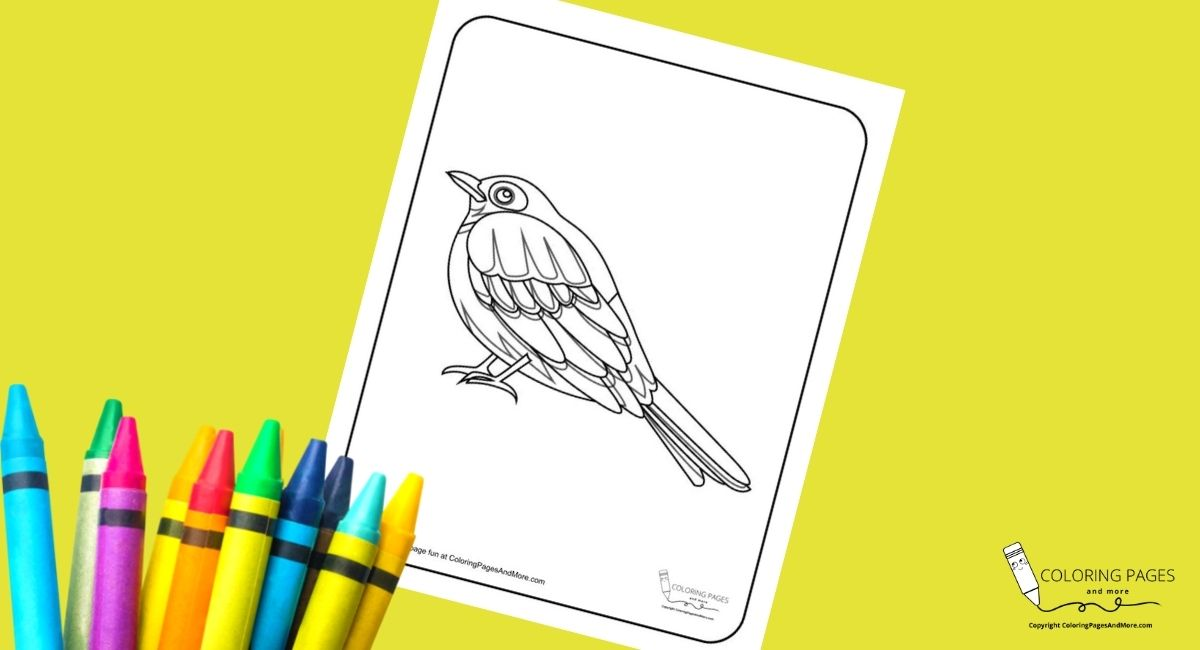 Fat Bird Coloring Page