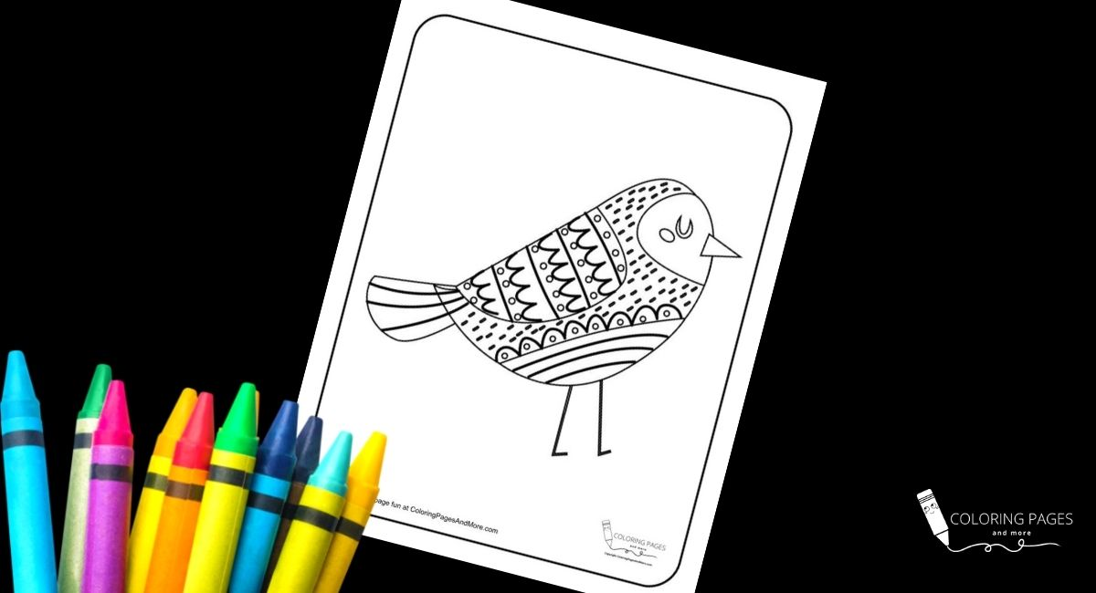 Pretty Mandala Bird Coloring Page