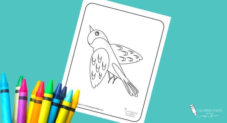 Soaring Bird Coloring Page