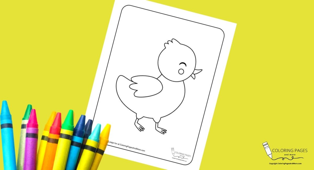 Cute Smiling Chick Coloring Page
