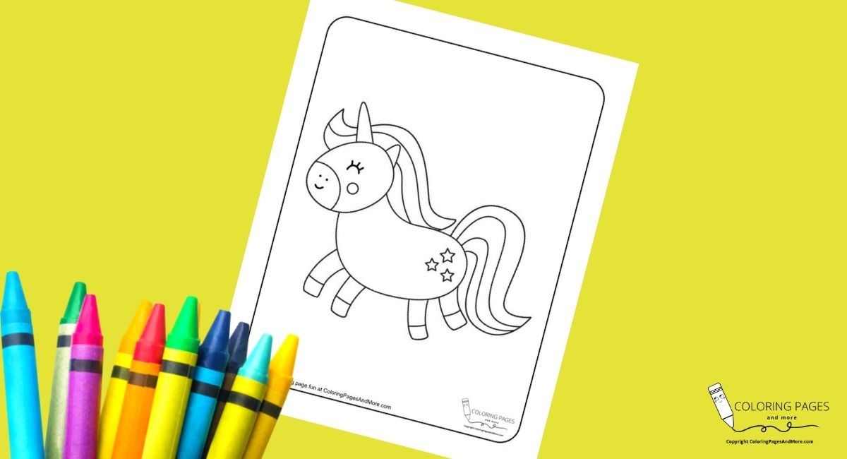 Star Unicorn Coloring Page