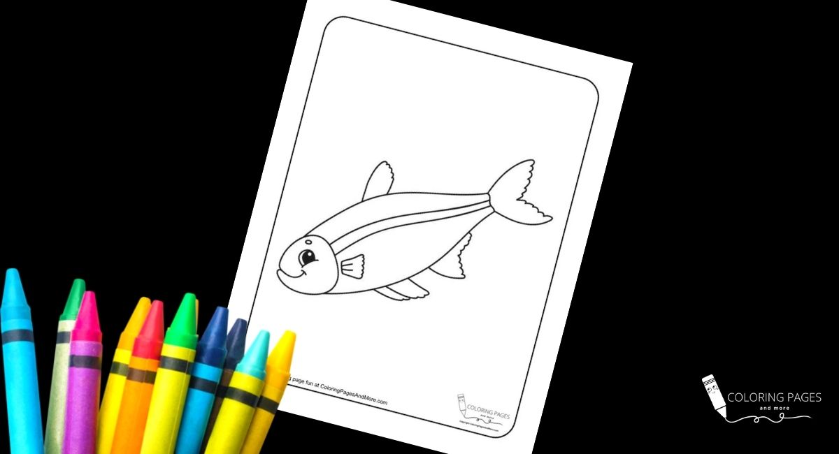 Striped Bass Fish Coloring Page