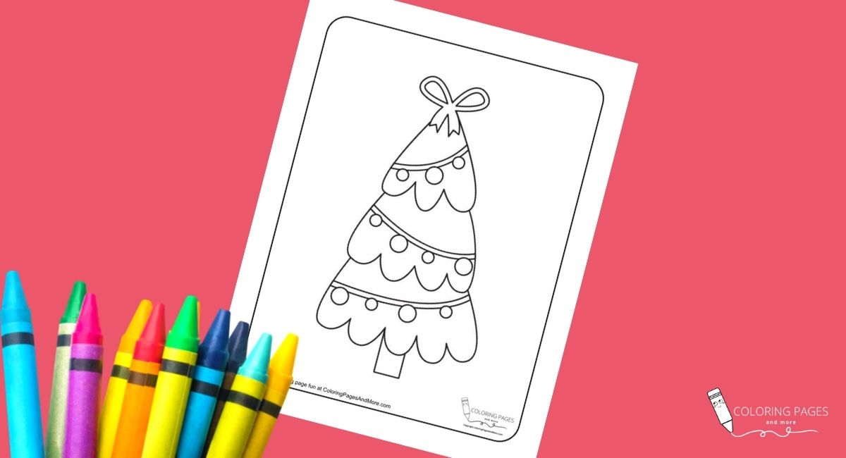 Christmas Tree with Tree Balls Coloring Page