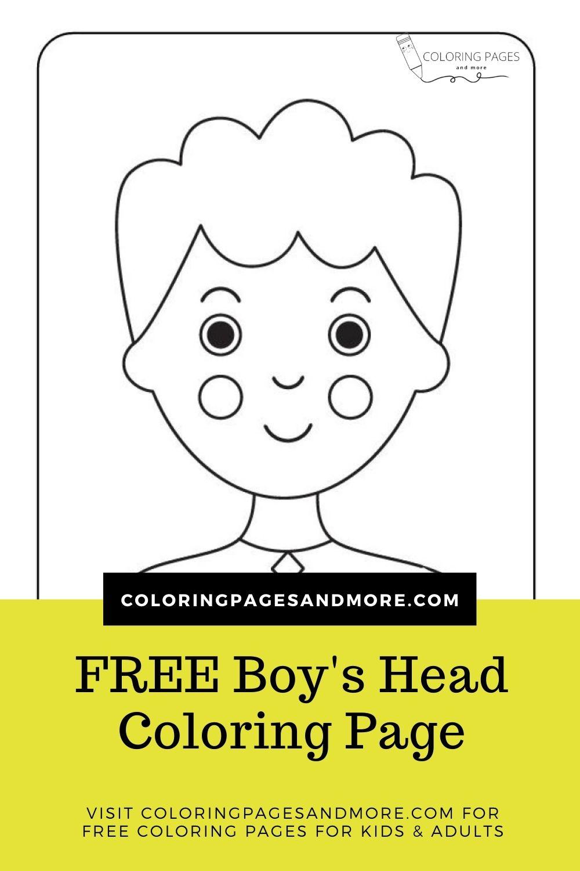 Boy's Head Coloring Page