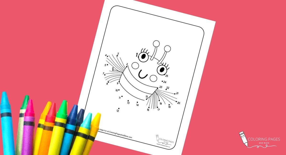 Bee Dot-to-Dot Coloring Page
