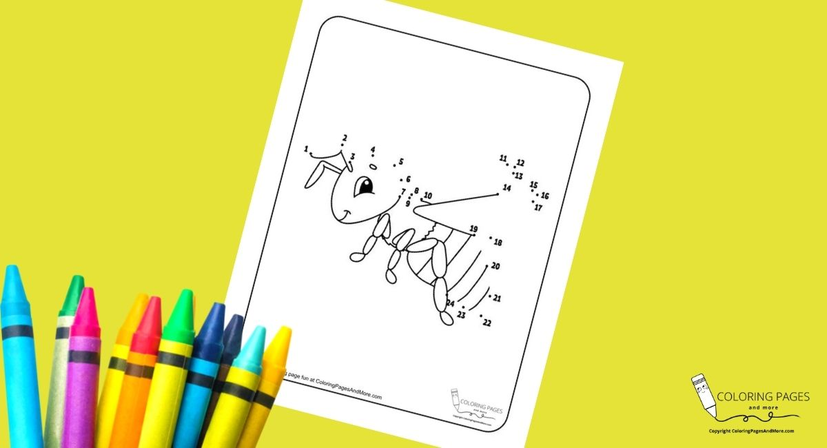 Honey Bee Dot-to-Dot Coloring Page