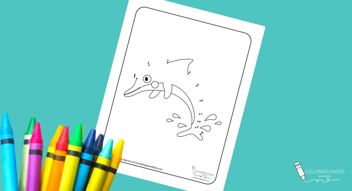 Dolphin Dot-to-Dot Coloring Page