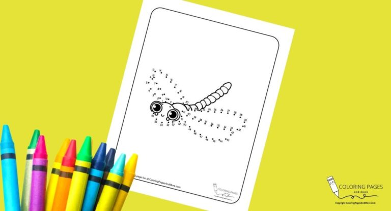 Dragonfly Dot-to-Dot Coloring Page