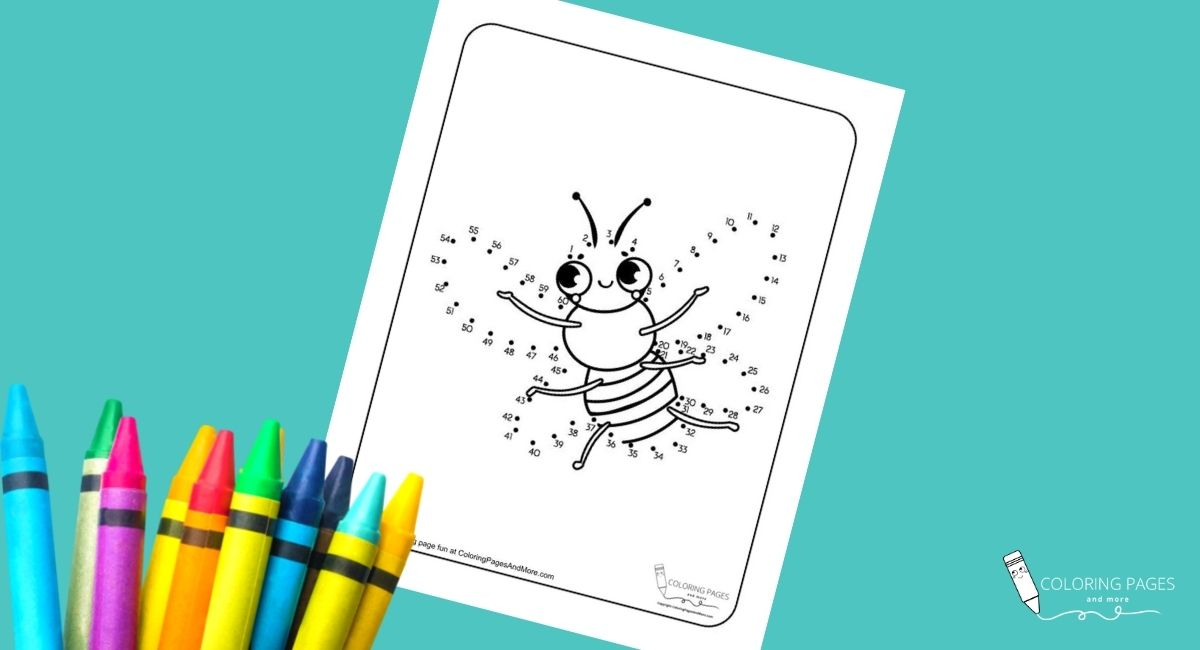 Flying Bee Dot-to-Dot Coloring Page