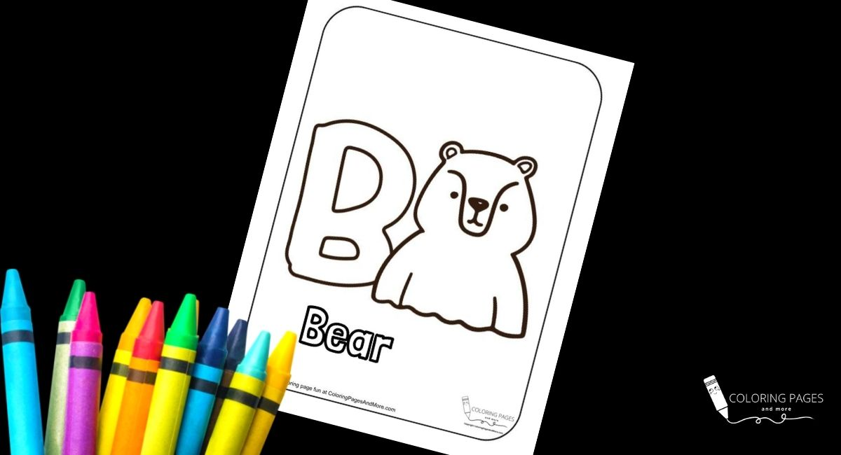 Letter B – Bear Alphabet Coloring Page
