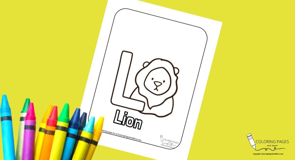 Letter L – Lion Alphabet Coloring Page