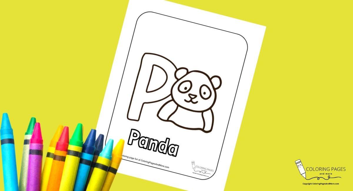 Letter P – Panda Alphabet Coloring Page