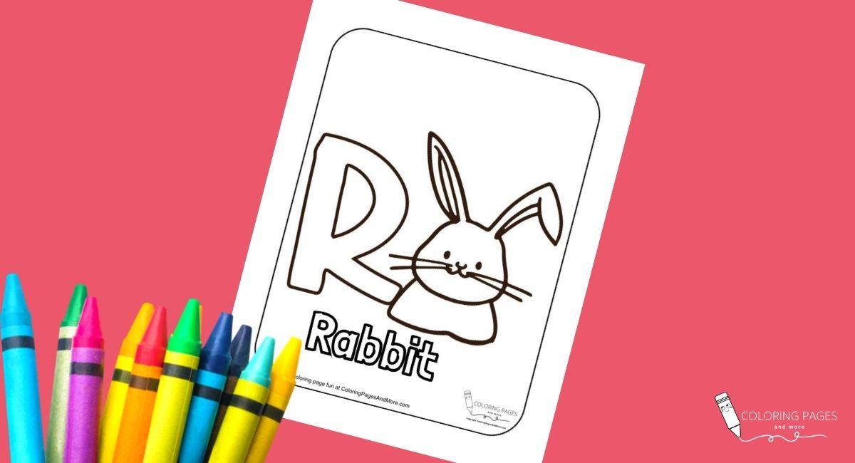 Letter R – Rabbit Alphabet Coloring Page