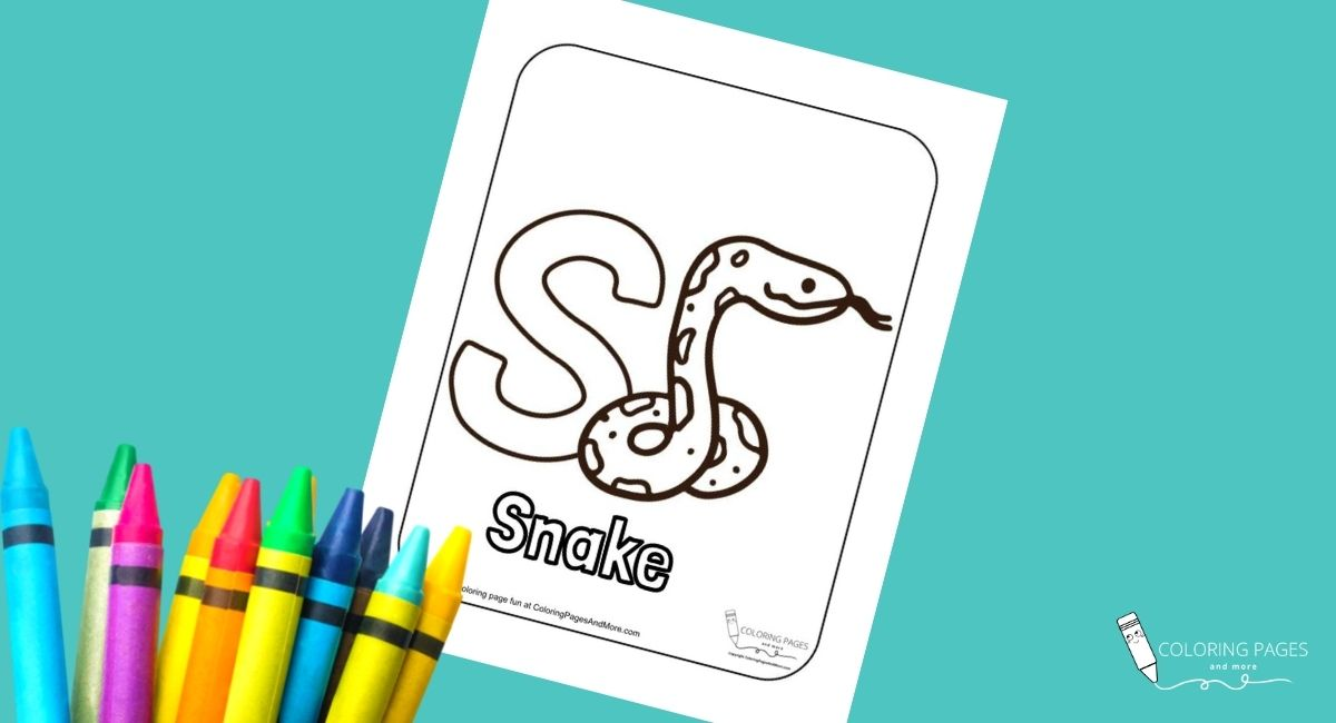 Letter S – Snake Alphabet Coloring Page