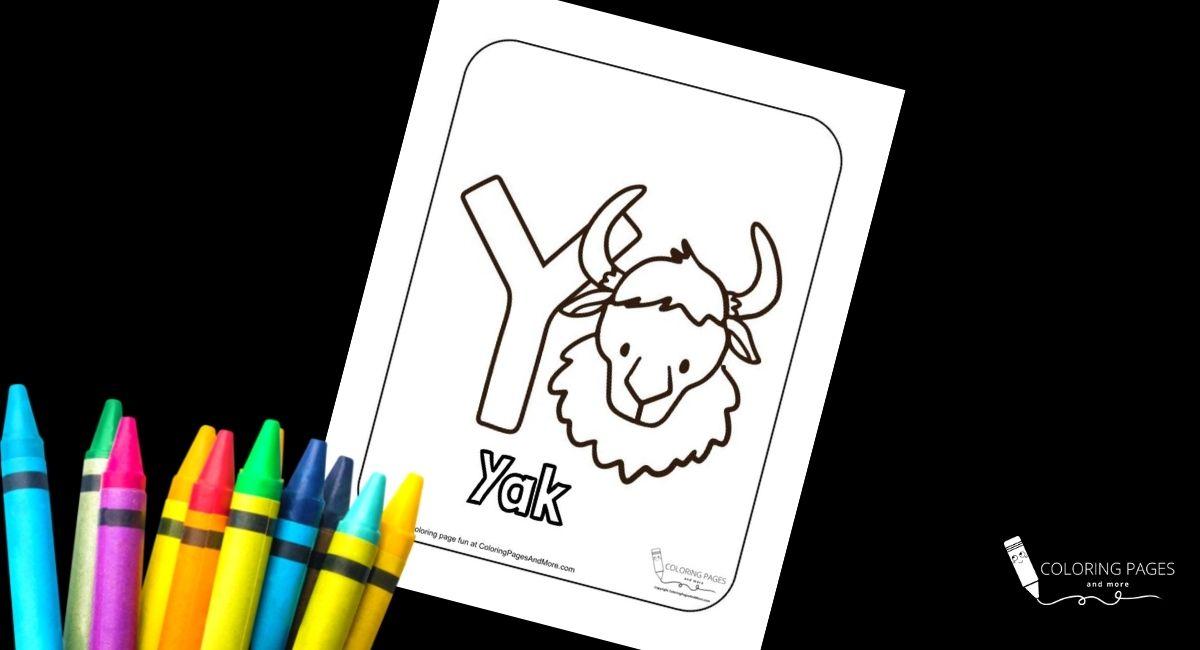 Letter Y – Yak Alphabet Coloring Page