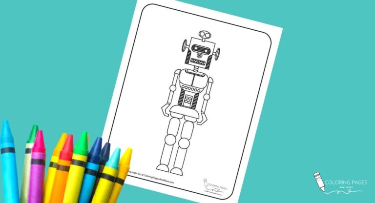 Monkey Face Robot Coloring Page
