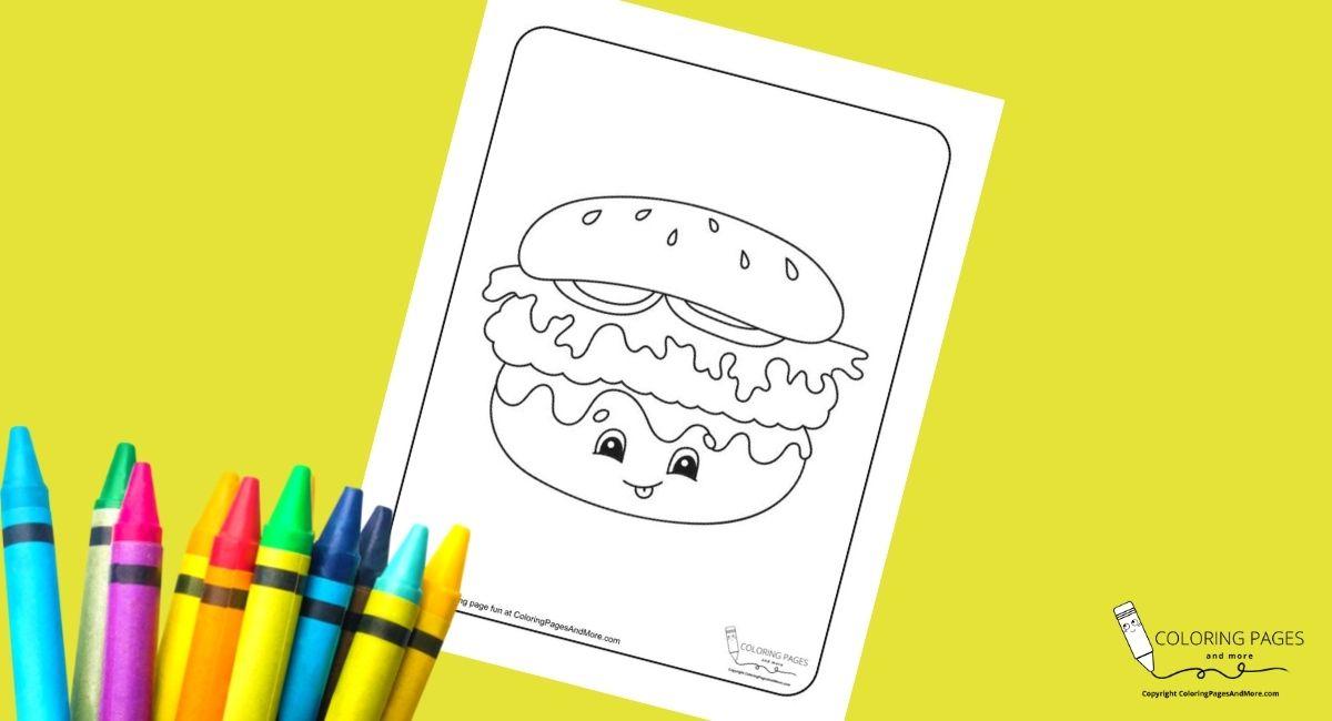 Burger Coloring Page