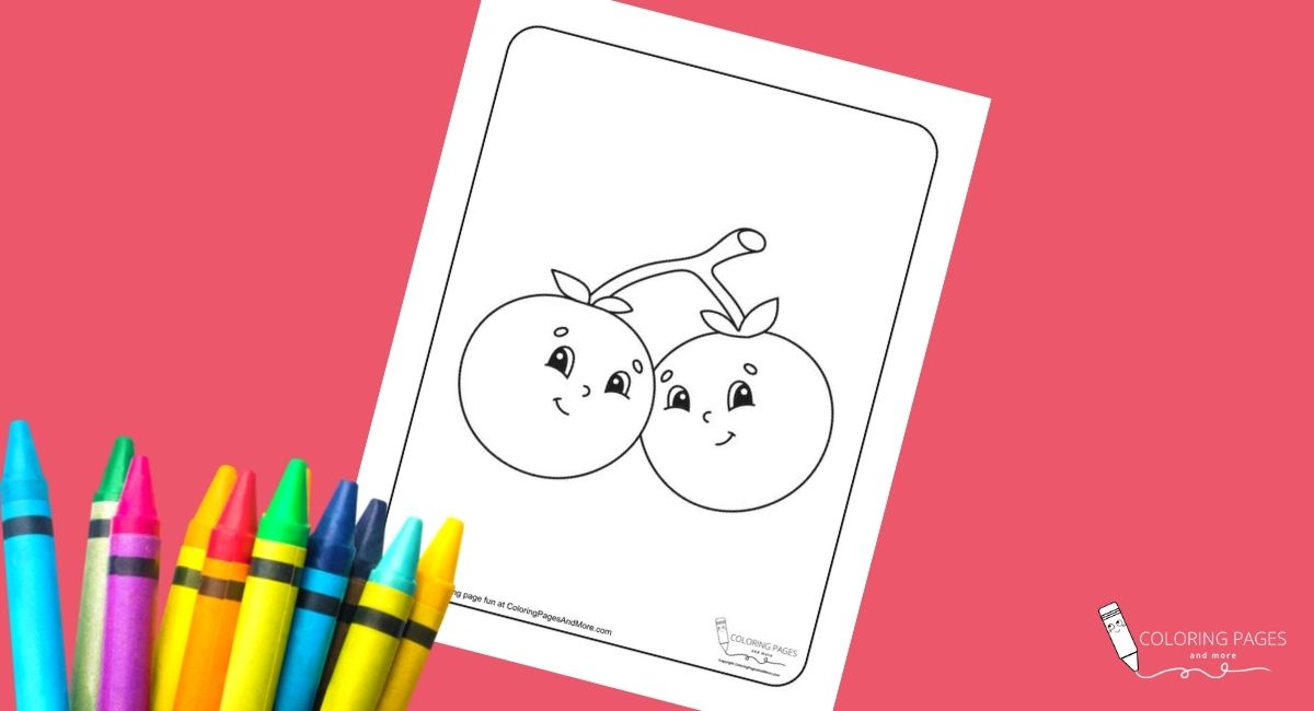 Smiling Cherries Coloring Page