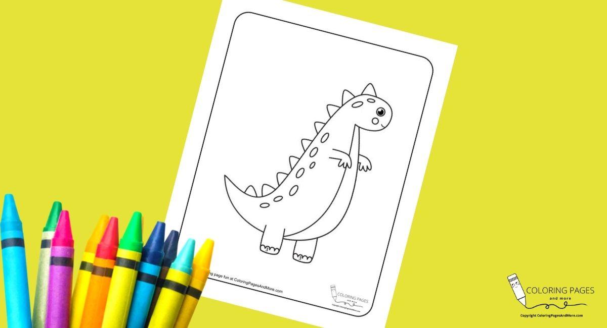 Nice T-Rex Dino Coloring Page