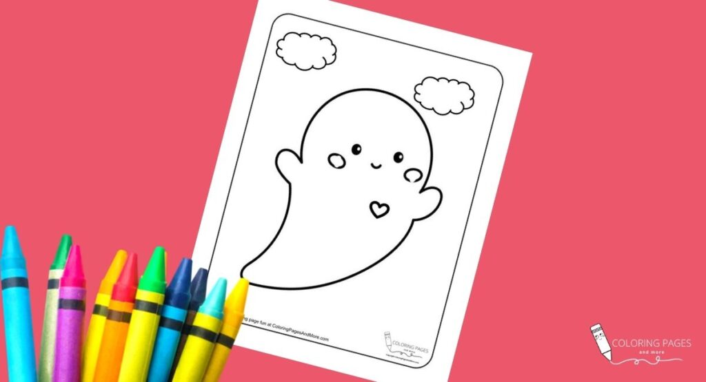 Happy Halloween Ghost Coloring Page
