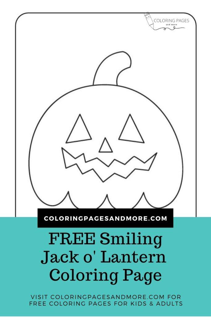 Smiling Jack o' Lantern Coloring Page