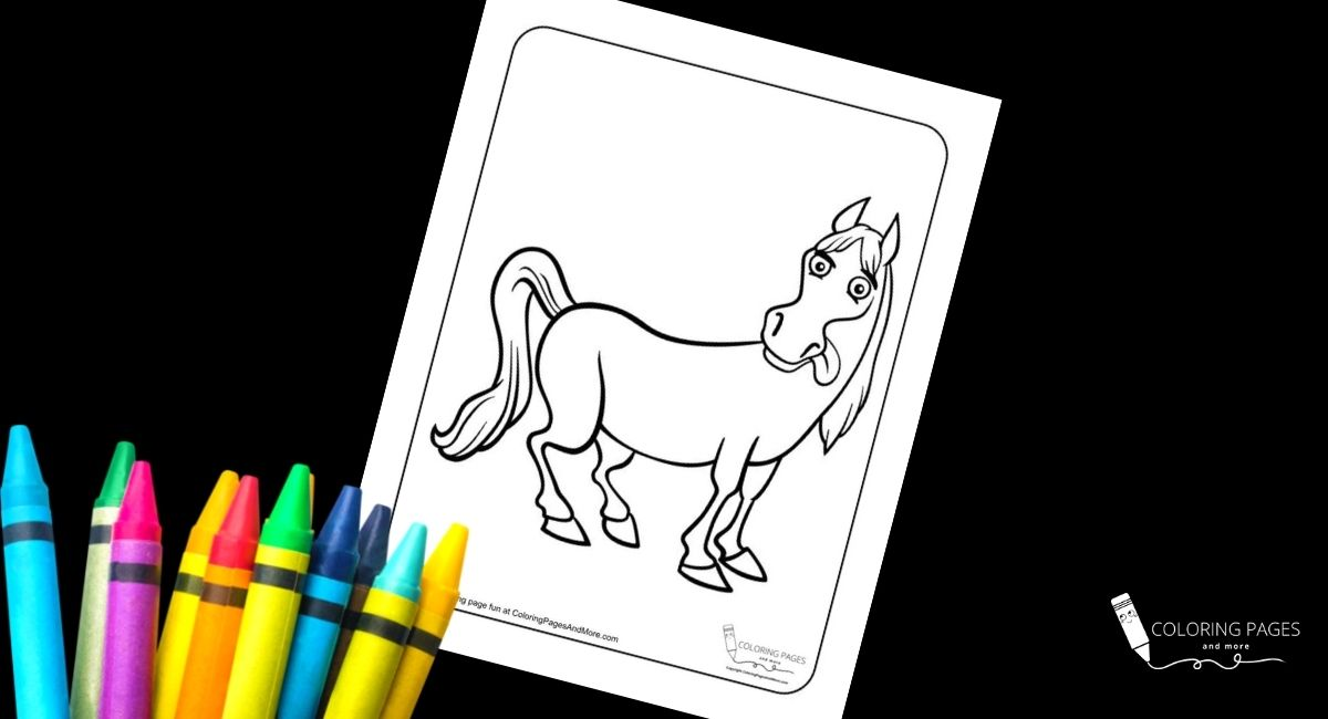Silly Horse Coloring Page