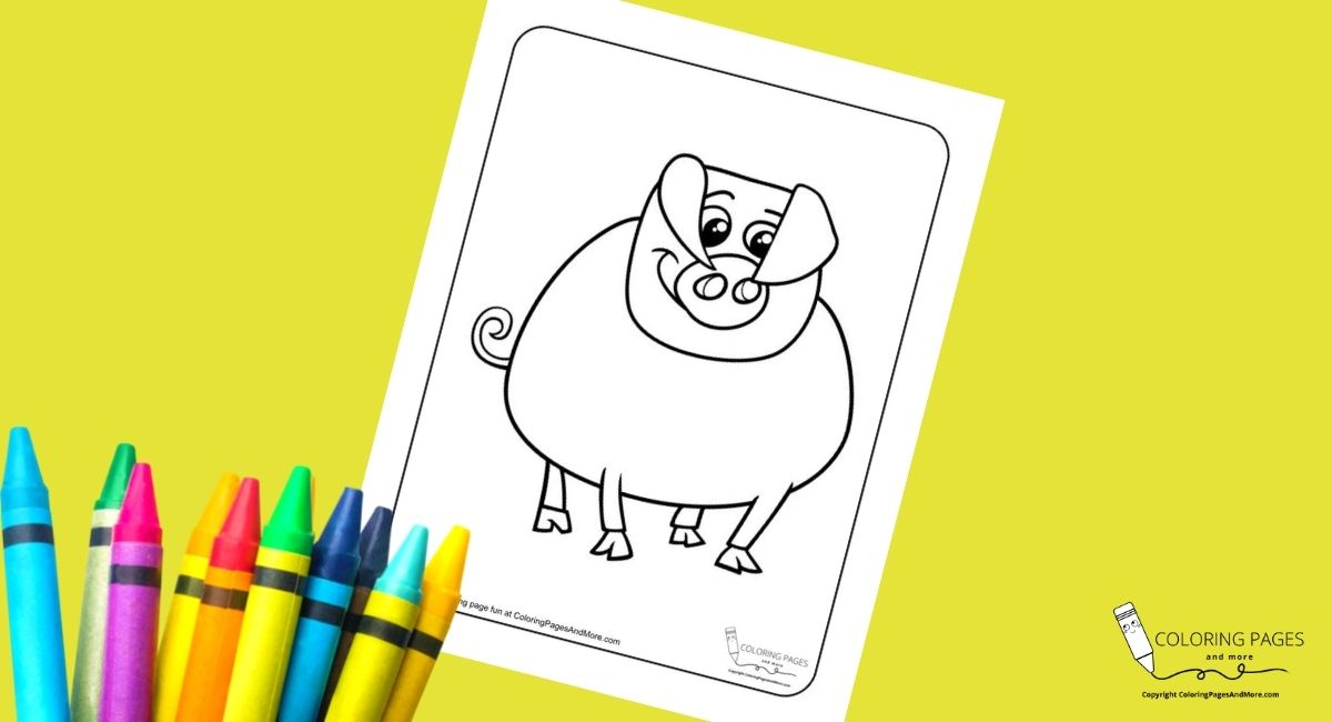 Silly Pig Coloring Page