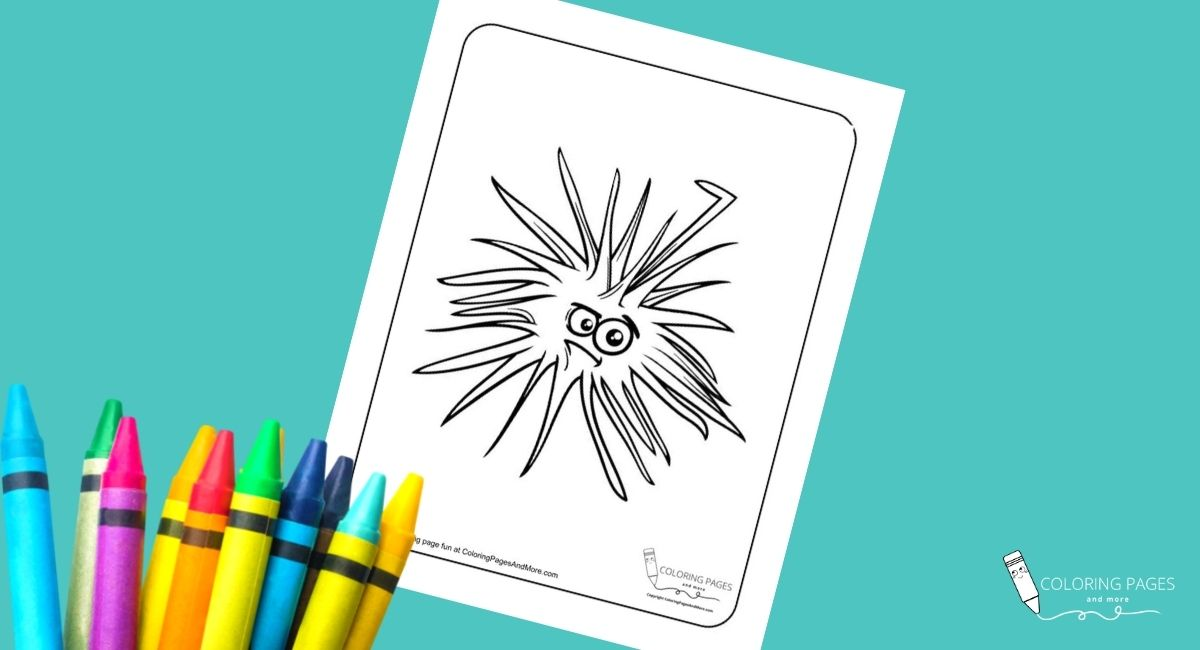 Angry Sea Urchin Coloring Page
