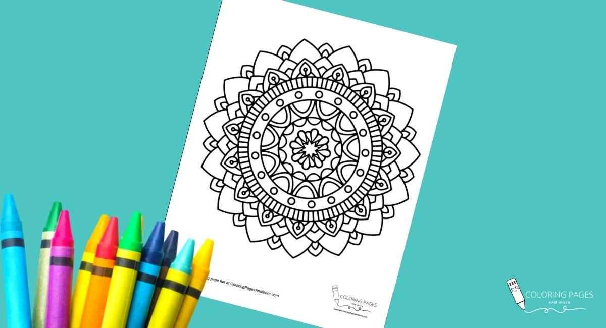 Pretty Mandala Coloring Page