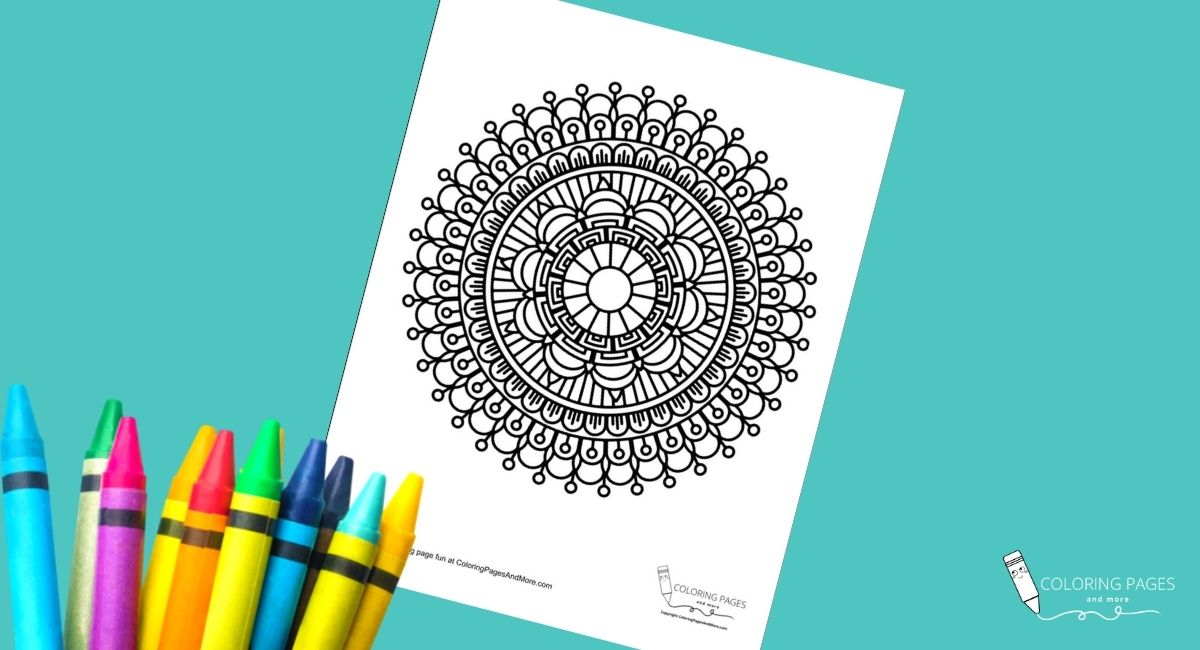 Eye of the Sun Mandala Coloring Page