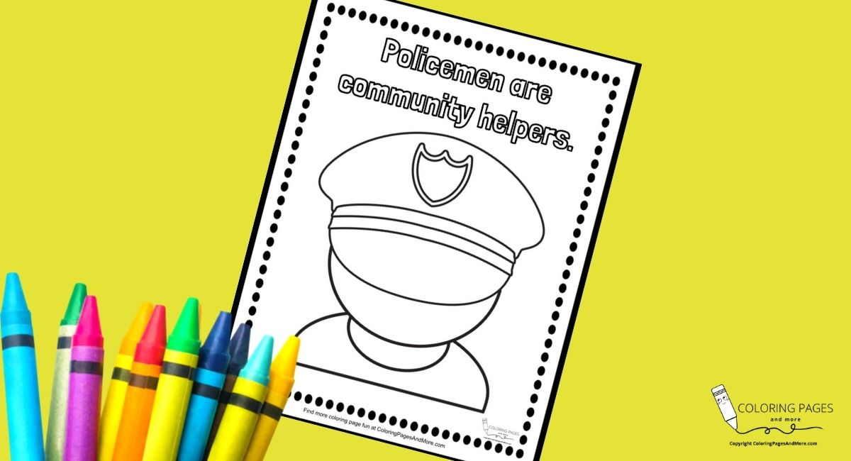 Policemen Community Helpers Coloring Page