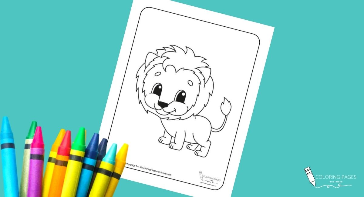 Cute Lion Coloring Page