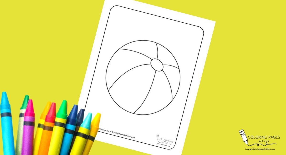 Beachball Coloring Page