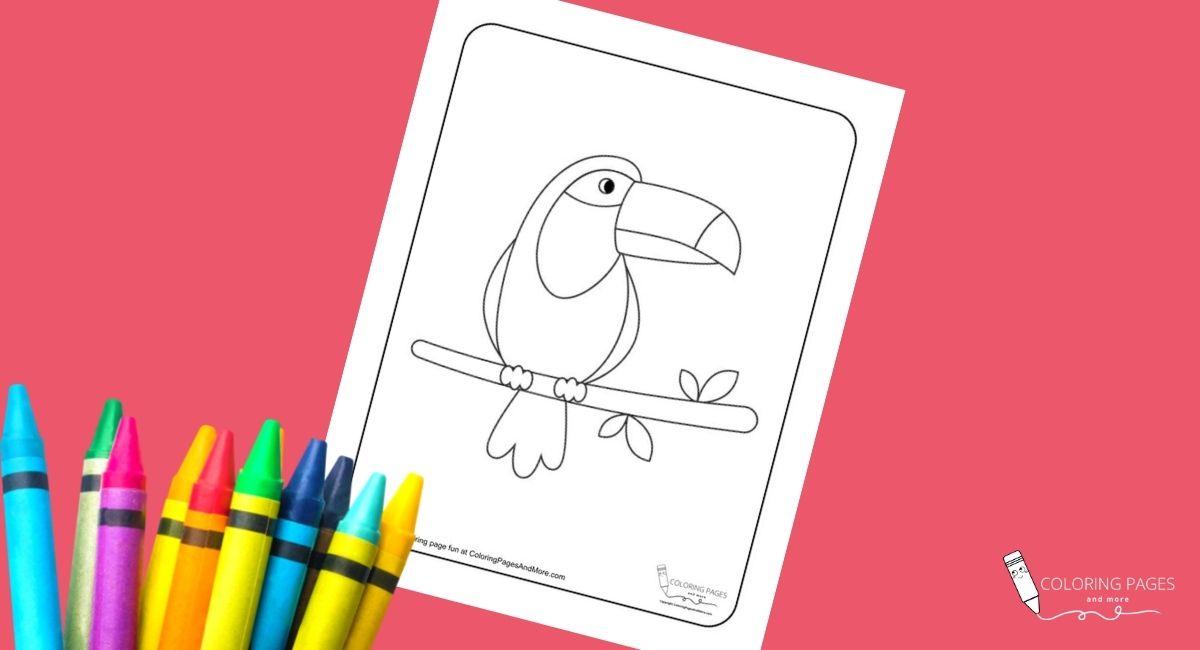 Grumpy Toucan Coloring Page