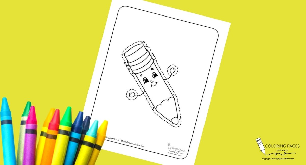 Pencil Tracing Coloring Page