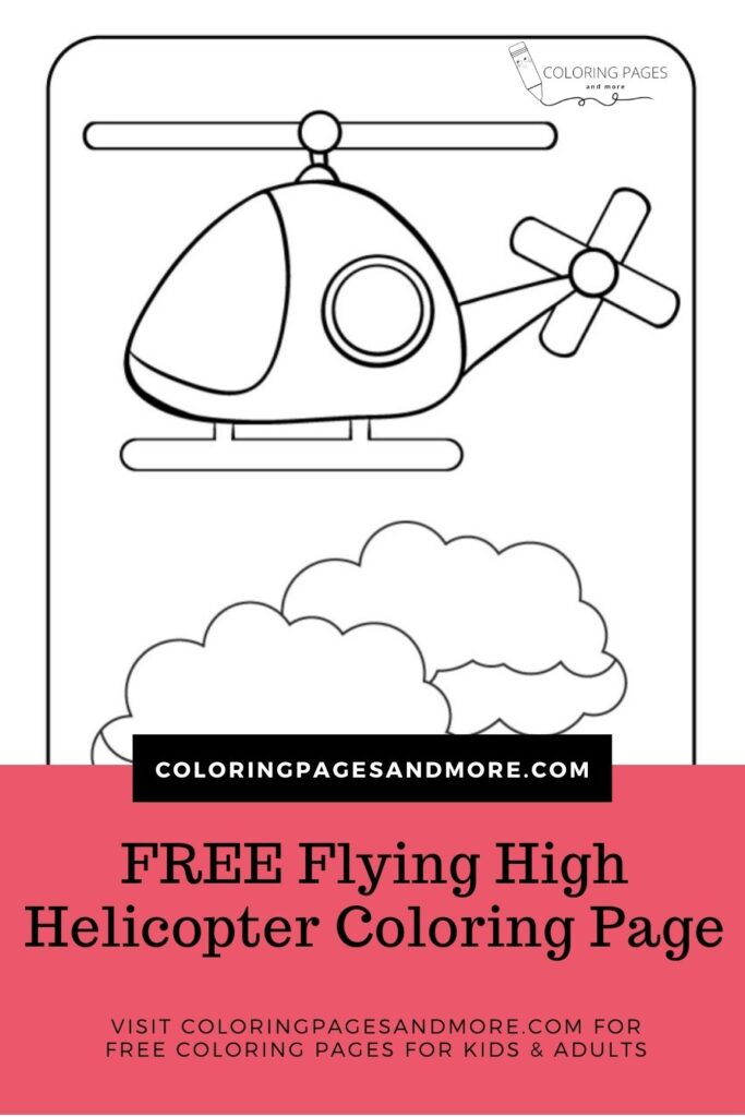 Flying High Helicopter Coloring Page