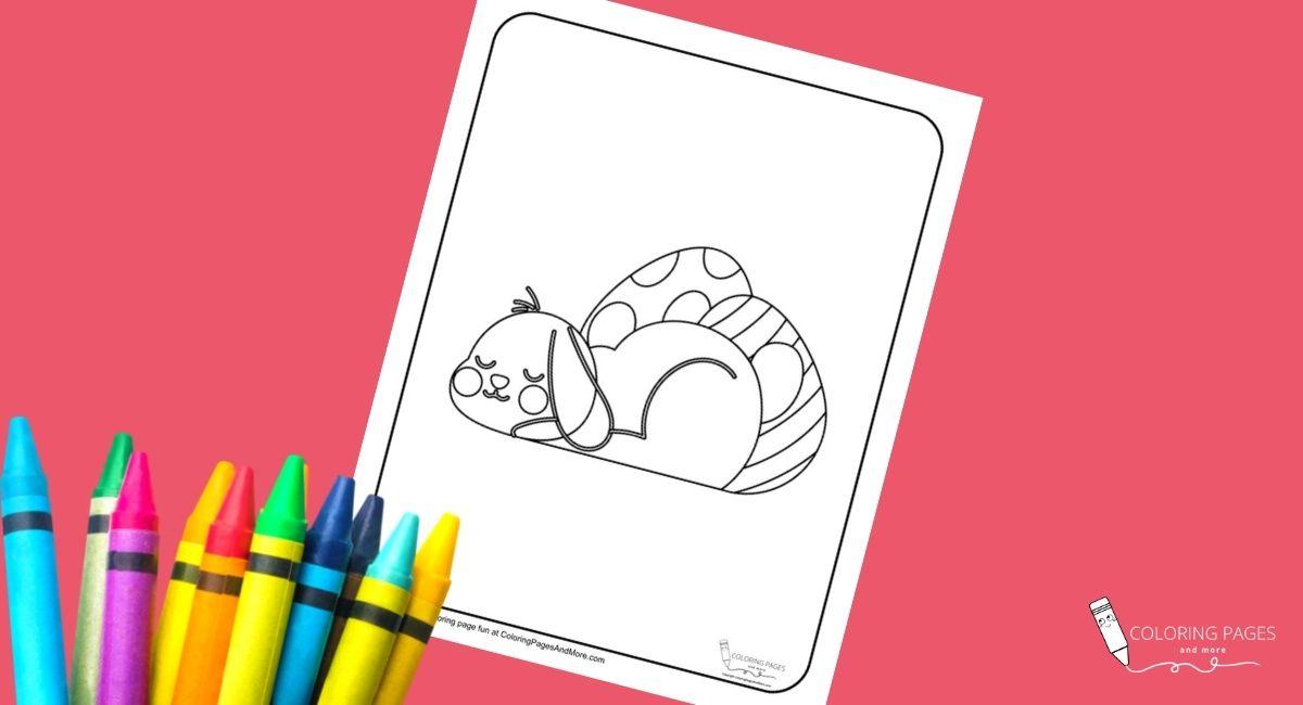 Sleepy Bunny Coloring Page