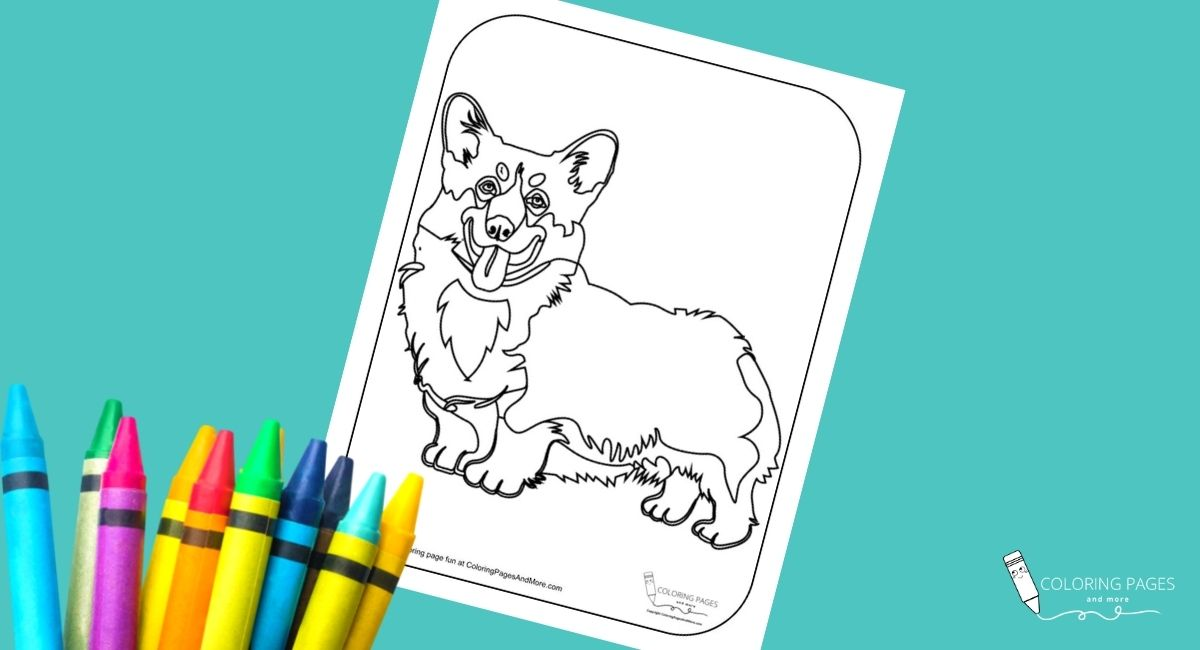 Corgi Dog Coloring Page