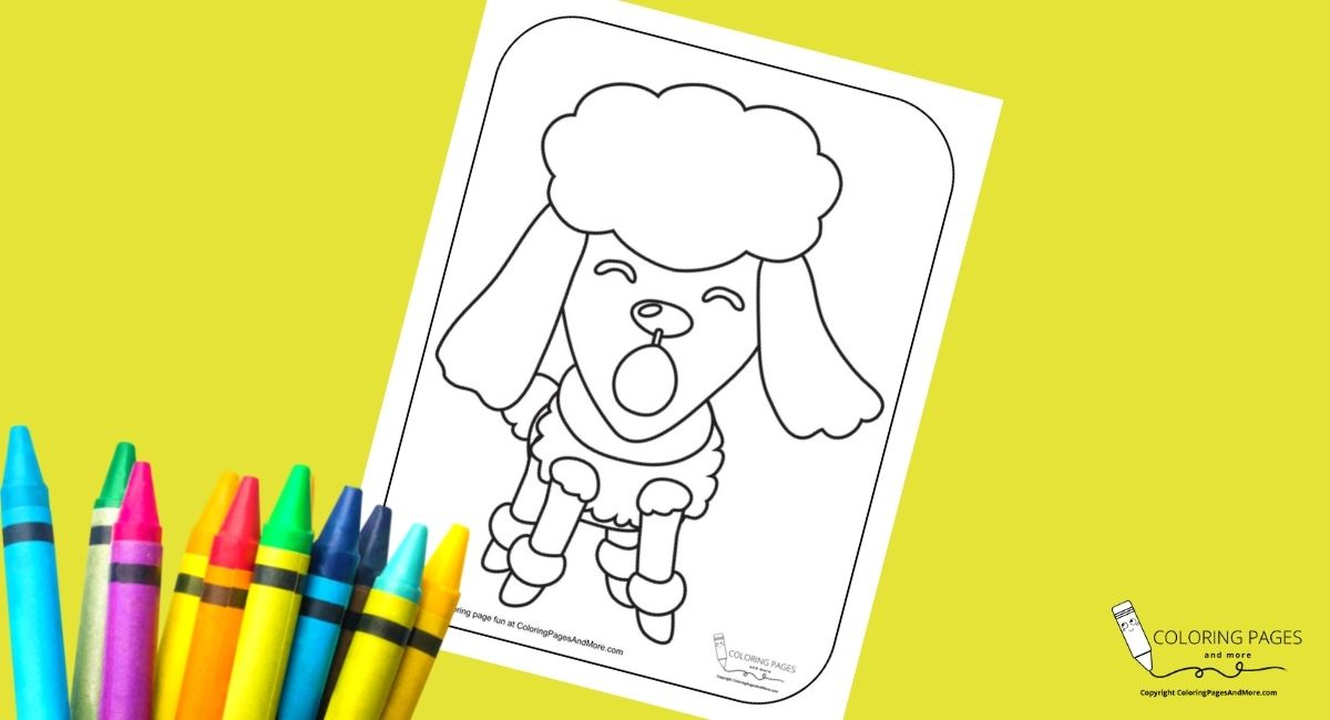 Barking Poodle Coloring Page