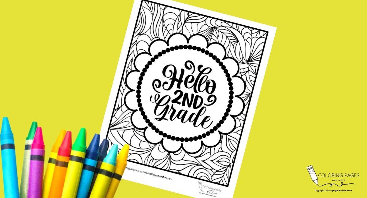 Hello Second Grade Coloring Page