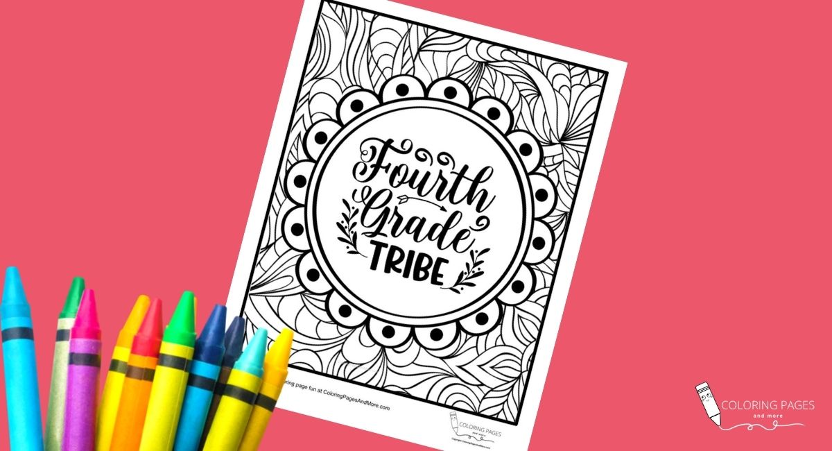 Fourth Grade Tribe Coloring Page