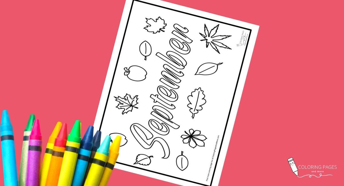 September Coloring Page