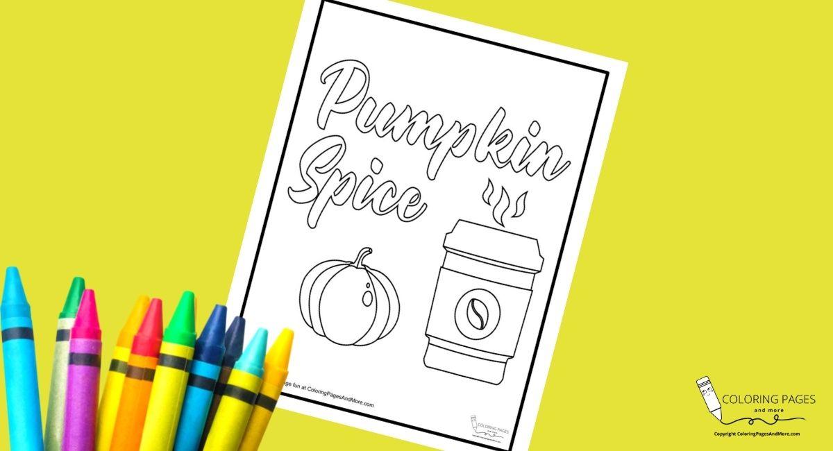 Pumpkin Spice Coffee Coloring Page