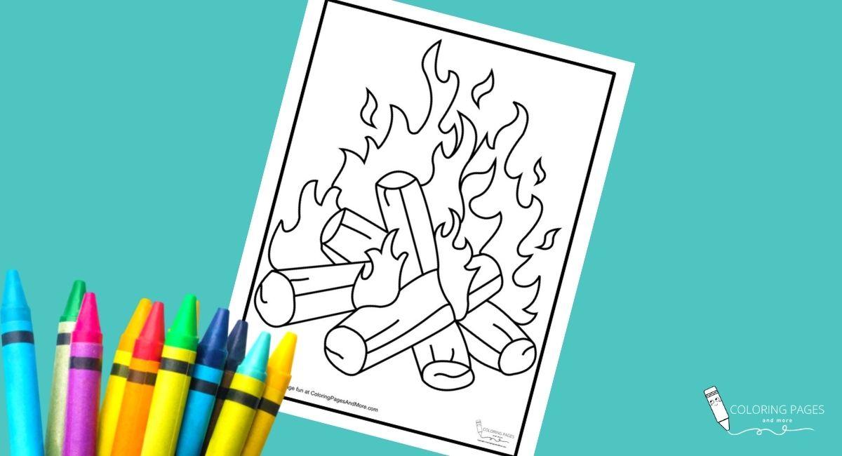Bonfire Coloring Page